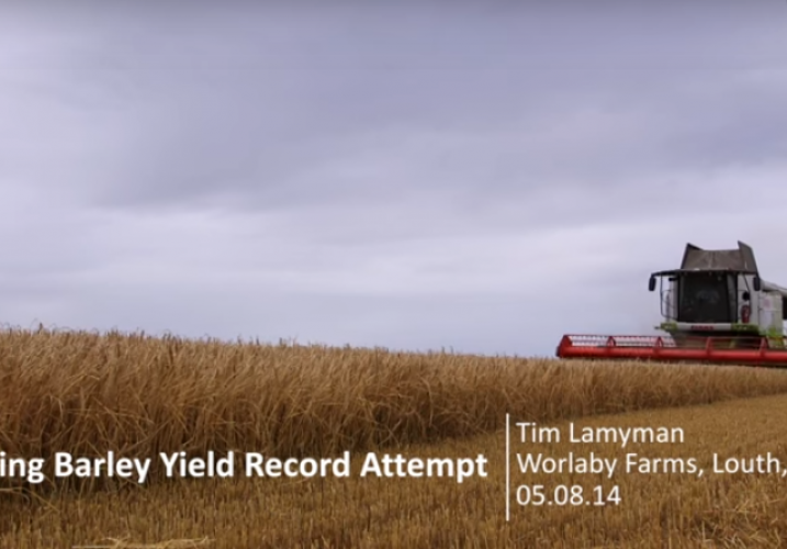 Video: UK Spring Barley World Harvest Record Yield